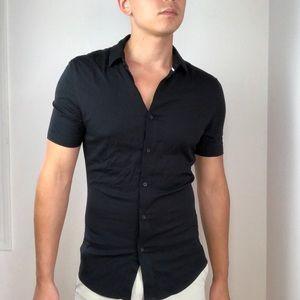 New ASOS Viscose Muscle Black Shirt M